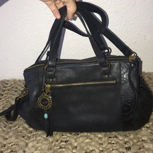 The Sak Collective Ojai Satchel Purse Black